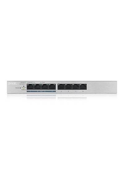 Zyxel GS1200-8HP  8 Port Web Yönetil (4 Port PoE )