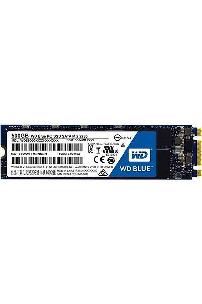 WD 500GB Blue 560/530MB M.2 Sata WDS500G2B0B
