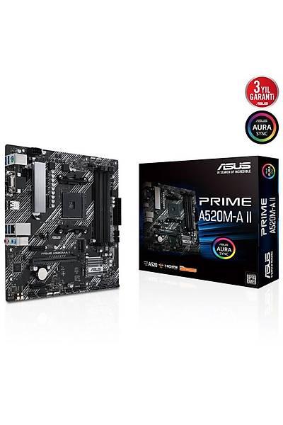 Asus Prime A520M-A II AM4 Ryzen Vga Hdmi Dp DDR4