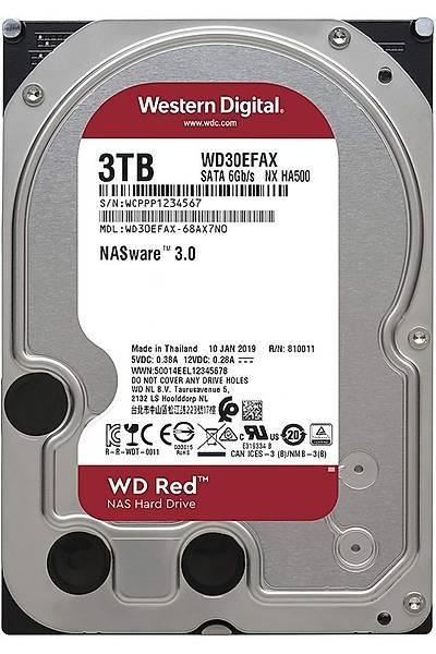 """WD 3TB Red 3.5"""" 64MB Intellipower Sata3 WD30EFAX"""