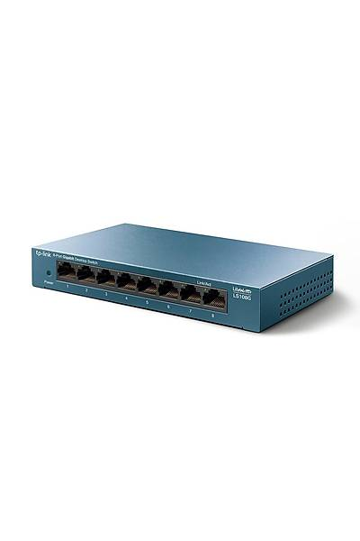Tp-Link LS108G 8 Port Gigabit Desktop Steel Case*