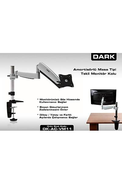 """Dark DK-AC-VM11 13""""-27 Masa Tipi Monitör TV Kolu"""