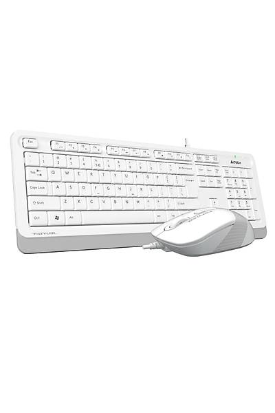 A4-Tech F1010 Beyaz USB Klavye Mouse Set - MM