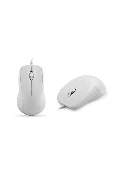 Everest KM-3850 Beyaz Q Multimedia Klavye + Mouse
