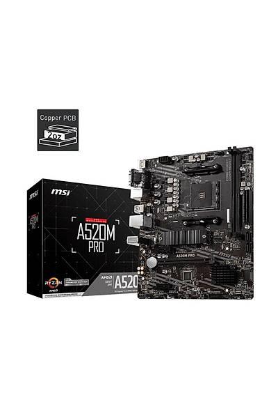 MSI A520M Pro AM4 Ryzen DDR4 Vga Hdmi Dp