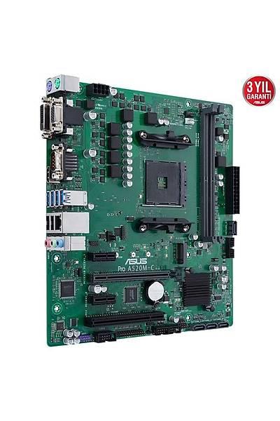 Asus Pro A520M-C/Csm AM4 Ryzen Vga Dvi Hdmi DDR4