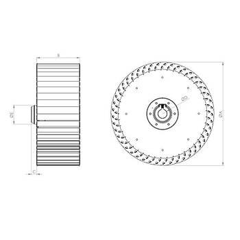 BF 280 Rotor Sýk Kanat Radyal Fan