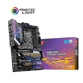MSI MPG Z590 GAMING FORCE 5333MHz(OC) DDR4 Soket 1200 M.2 HDMI DP ATX Anakart
