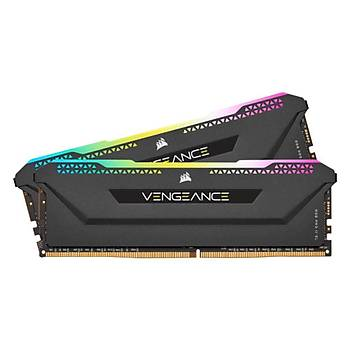 CORSAIR 16GB (2x8GB) Vengeance RGB PRO SL Siyah 3600MHz CL18 DDR4 Dual Kit Ram