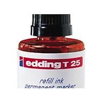 Edding T25 Kýrmýzý Permanent Mürekkep 25Ml