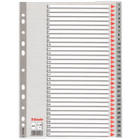 Esselte - Separatör A4 1-31 Rakam  - 100108 - Gri