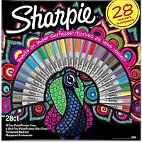 Sharpie Fine Permanent markör 28li kutu-T.kuþu