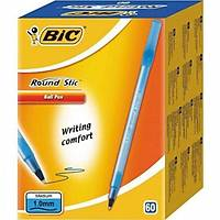 Bic Round Stick Siyah Tükenmez Kalem 1,0 Mm Mavi 60 Lý Pk
