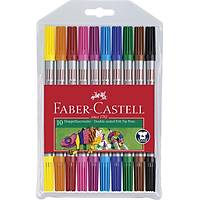 Faber Castell 10 'lu Çift Taraflý Keçeli Kalem