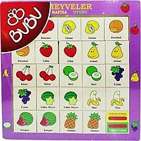 Bu-Bu Ahþap Puzzle Meyveler Hafýza Oyunu 30X30 Cm