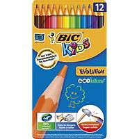 Bic Kids Evolution Kuru Boya 12'Li Metal Kutu