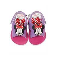 Minnie Mouse Desenli  Mor Kýz Çocuk Sandaleti 22 Numara