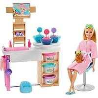 Mattel Barbie'Nin Yüz Bakýmý Oyun Seti Gjr84