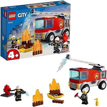 Lego® City Merdivenli Ýtfaiye Kamyonu 60280 Yapým Seti; Çocuklar Ýçin Eðlenceli Ýtfaiye Oyuncaðý Yapým Seti (88 Parça)