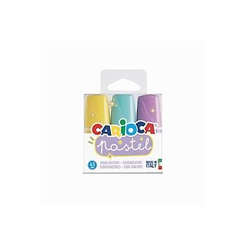 Carioca Pastel Marker 3'lü Mini Fosforlu Kalem
