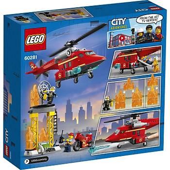 Lego® City Ýtfaiye Kurtarma Helikopteri 60281 Yapým Seti; Çocuklar Ýçin Ýtfaiye Oyuncaðý Ve Eðlenceli Yapým Seti (212 Parça)