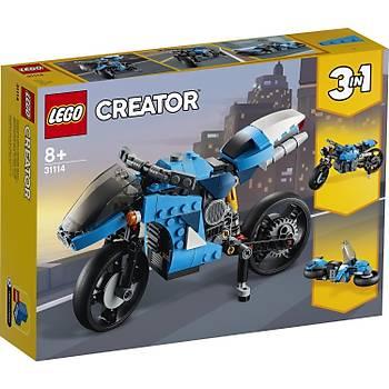 Lego® Creator 3'Ü 1 Arada Süper Motosiklet 31114 Oyuncak Motosiklet Yapým Seti (236 Parça)