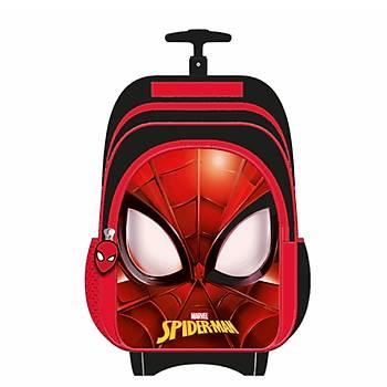 Frocx Lisanslý Spiderman Çekcekli Ýlkokul Çantasý Check Spider Mask Otto-5680