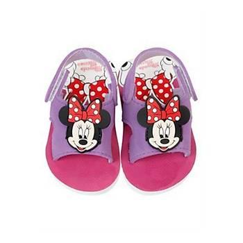 Minnie Mouse Desenli Mor Kýz Çocuk Sandaleti 27 Numara
