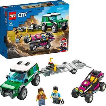 Lego® City Yarýþ Arabasý Taþýma Aracý 60288 Yapým Seti; Çocuklar Ýçin Eðlenceli Bir Oyuncak (210 Parça)