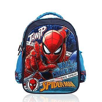 Frocx Lisanslý Spiderman Ýlkokul Çantasý Hawk Spider Web Otto-5686