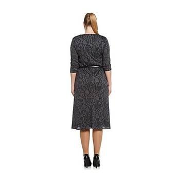 Nidya Moda Büyük Beden Günlük Triko Elbise-4069JG