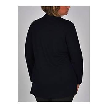 Nidya Moda Büyük Beden Yakalý Gömlek-1015L