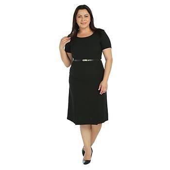 Nidya Moda Büyük Beden Yýrtmaçlý  Elbise-4086S