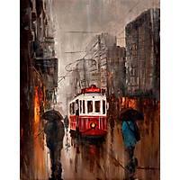 Beyoglu Ve Yagmur Yagliboya Tablo Modern Tablolar Istanbul