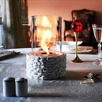 fire stone masa üstü þömine