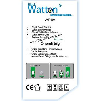 Blackwatton Wt-194 % 80 Tasarruflu 7W Ampül
