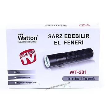 BlackWatton  Wt-281 -Ultra Yüksek Iþýk El Feneri