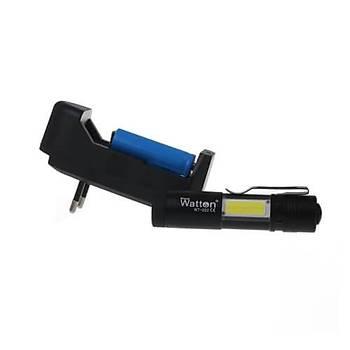 Mini Güçlü Şarjlı Pilli EL Feneri Çok Fonksiyonlu Watton Wt-022