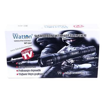 Profesyonel  Tx6 Þarjlý Zoomlu El Feneri Watton Wt-241