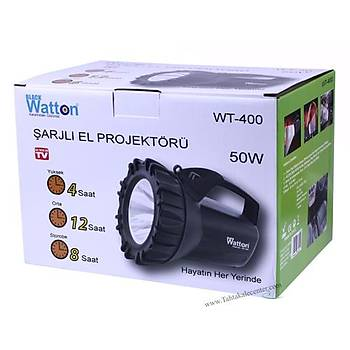 Şarjlı 50 W Büyük Fener Watton  Wt-400