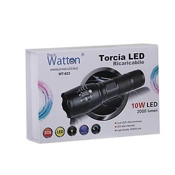 En Güçlü Þarjlý EL Feneri Watton Wt-023