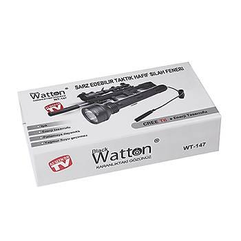 Güçlü Profesyonel Tüfek Feneri  Watton Wt-147