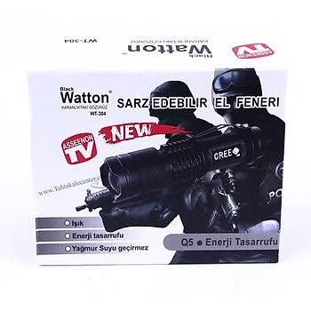 Mini Güçlü Þarjlý Pilli EL Feneri Watton Wt-304