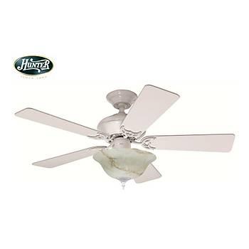 Hunter - Builder Select Beyaz - 107 Cm. Aydýnlatmalý Tavan Vantilatörü