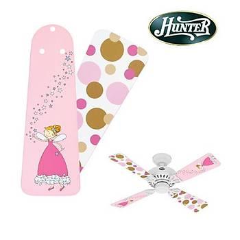 Hunter - Çocuk Odasý Bayport Modeli Ýçin Peri - Pembe Noktalý Kanatlar