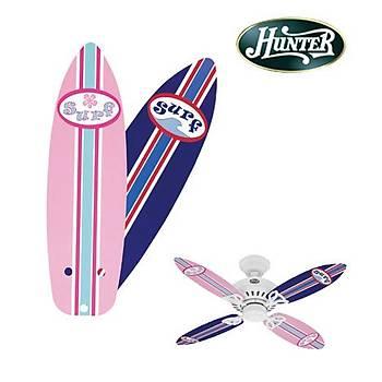 Hunter - Çocuk Odasý Bayport Modeli Ýçin Pembe -Mavi Surf Tahtasý Kanatlar