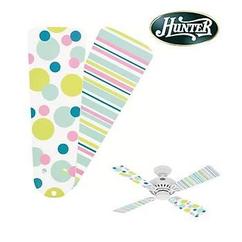 Hunter - Çocuk Odasý Bayport Modeli Ýçin Nokta - Çizgi Desenli Kanatlar