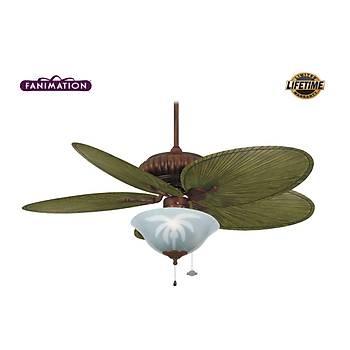 Fanimation - Belleria 132 Cm. Palmiye Kanatlý Aydýnlatmalý Tavan Vantilatörü