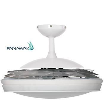 Fanaway -  Evo 1 Prevail Beyaz - 121 Cm. Aydýnlatmalý Kanatlarý Gizlenen Tavan Vantilatörü