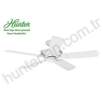 Hunter - Outdoor Elements II Beyaz - 132 Cm. Beyaz Plastik Kanatlý Dýþ Mekan Tavan Vantilatörü